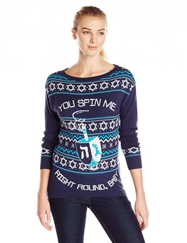 Hanukkah 'U Spin Me' Dreidel Ugly Christmas Sweater