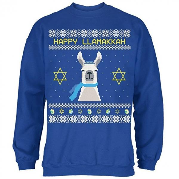 Happy Llamakkah Hanukkah Ugly Christmas Sweater