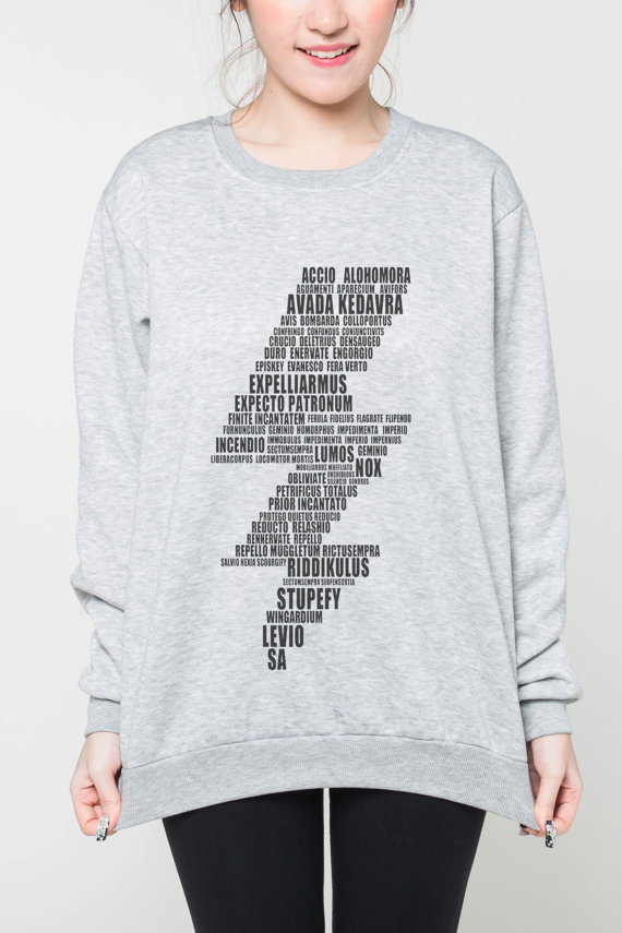 harry potter spells sweater