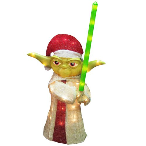 Kurt Adler 3D Tinsel Yoda Lawn Decor