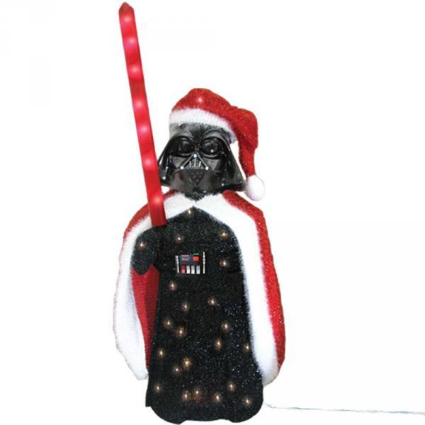 Kurt Adler Darth Vader 3D Tinsel Lawn Seasonal Décor