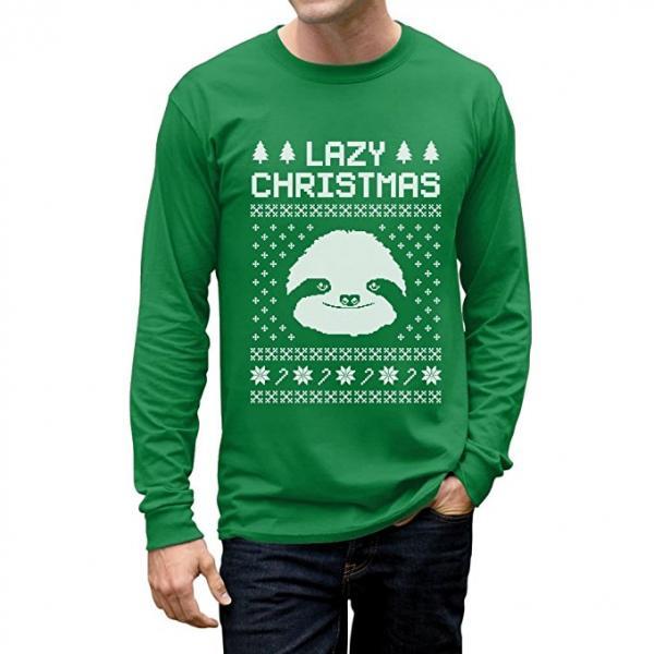 Lazy Sloth Ugly Christmas Sweater