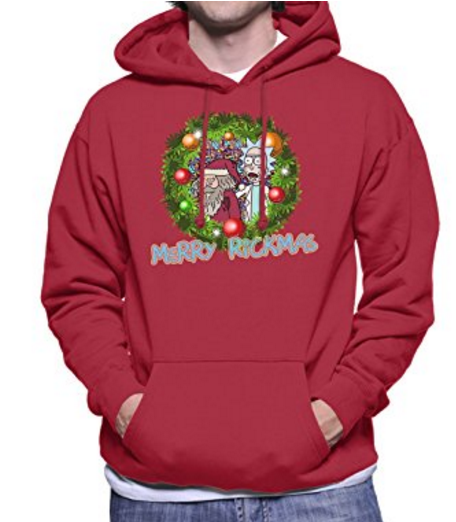 merry-rickmas-blue-christmas-rick-and-morty-mens-hooded-sweatshirt