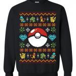 Pokeball & Pokemon Ugly Christmas Sweater