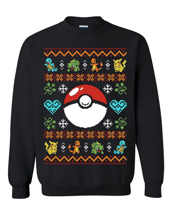 Pokeball & Pokemon Ugly Christmas Sweater