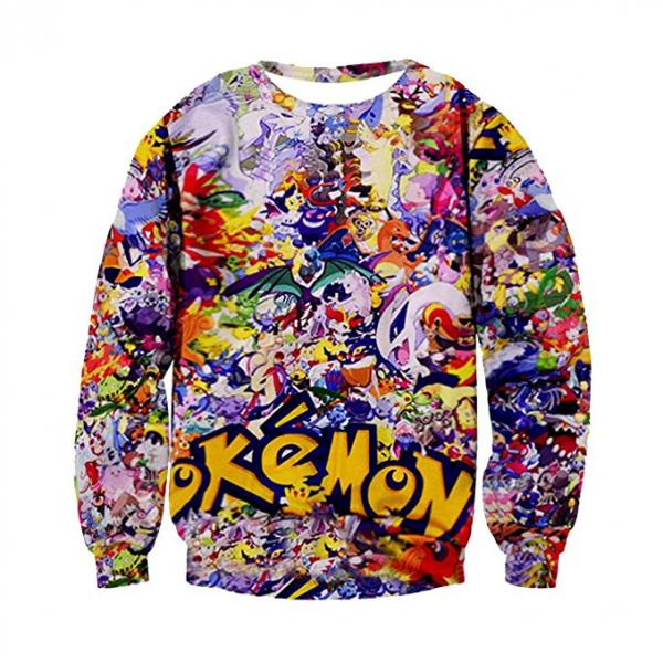 Pokemon 3D Ugly Christmas Sweater