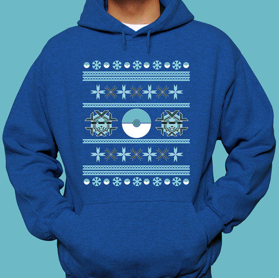 Pokemon Freezing Pokeballs Ugly Christmas Sweater