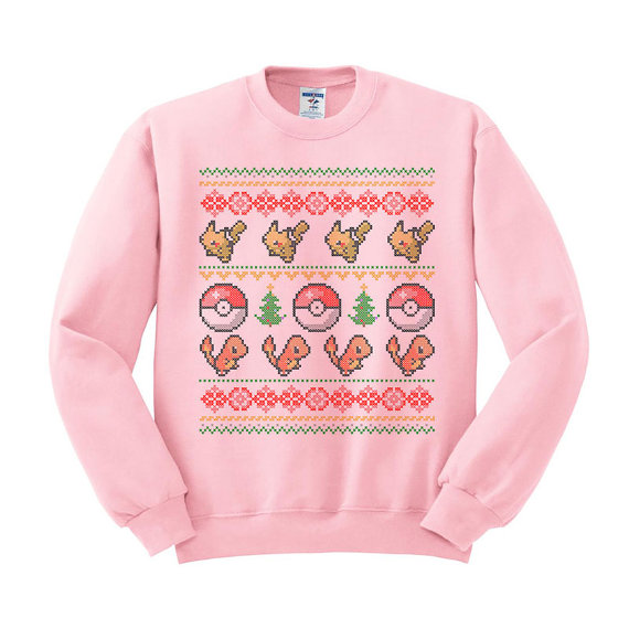 Pokemon Pikachu & Charmander Ugly Christmas Sweater