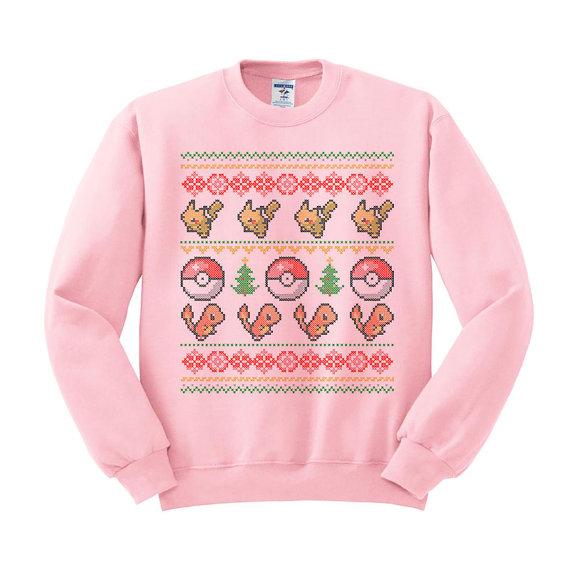 Pokemon Pikachu & Charmander Ugly Christmas Sweater