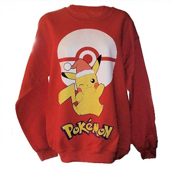 Pokemon Pikachu & Pokeball Ugly Christmas Sweater