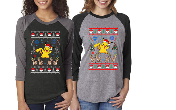 Pokemon Pikachu & Reindeer Ugly Christmas Sweater