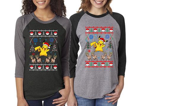 Pokemon Pikachu & Reindeer Ugly Christmas Sweater