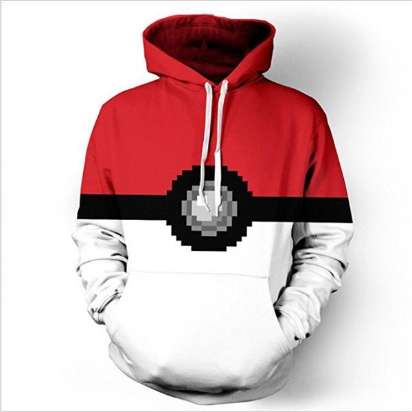 Pokemon Pokeball Pixelated Hoodie