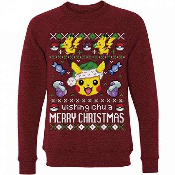 Pokemon 'Wishing Chu a Merry Christmas' Ugly Sweater