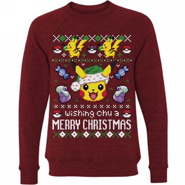 Pokemon 'Wishing Chu a Merry Christmas' Ugly Sweater