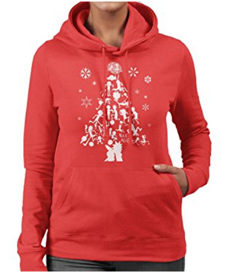 rick-and-morty-christmas-tree-silhouette-womens-hooded-sweatshirt