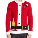Santa Bottle in the Belt Ugly Christmas Sweater