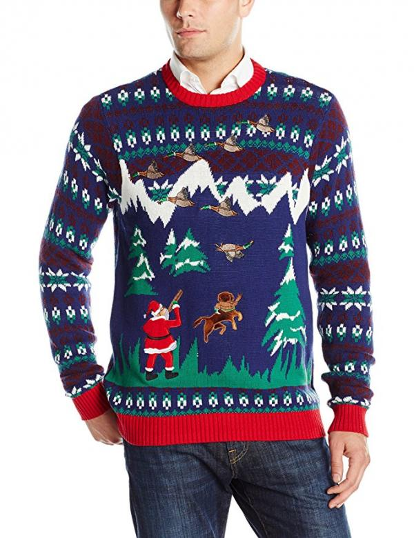 Santa Duck Hunter ugly Christmas Sweater