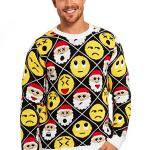 Santa Emoji Ugly Christmas Sweater