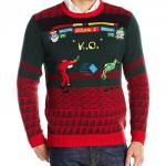 Santa Fighting Game Ugly Christmas Sweater