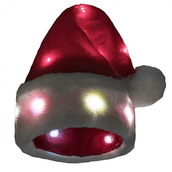Santa Hat with 20 Blinking LED Lights