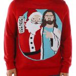 Santa & Jesus Friends Ugly Christmas Sweater