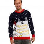 Santa Peeing Ugly Christmas Sweater