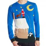 Santa Peeing off the Roof Ugly Christmas Sweater