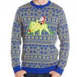 Santa on a Dinosaur Ugly Christmas Sweater
