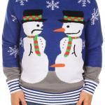 Snowman Nose Thief Ugly Christmas Sweater