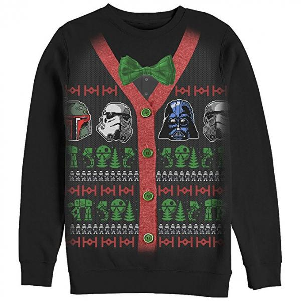 Star Wars Dark Side Helmets Ugly Christmas Sweater