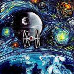 Star Wars Death Star Van Gogh Starry Night