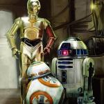 Star Wars Episode 7 R2-D2, C-3PO and BB-8