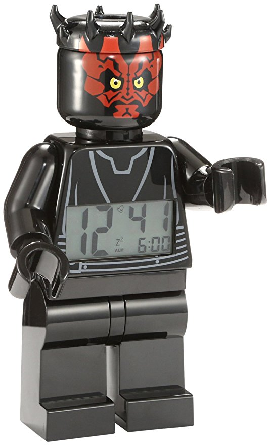 Star Wars LEGO mini Darth Maul Clock