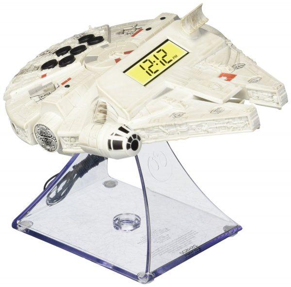 Star Wars Millennium Falcon Glowing Alarm Clock
