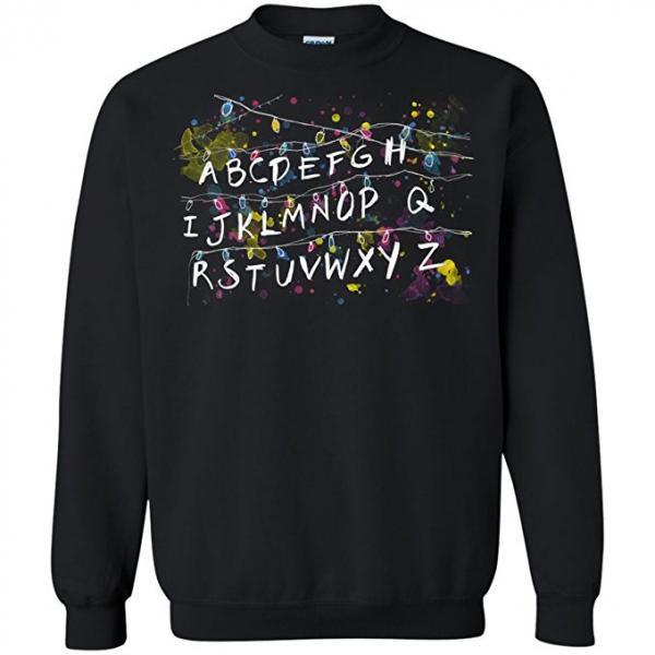 Stranger Things Alphabet Lights Christmas Sweater