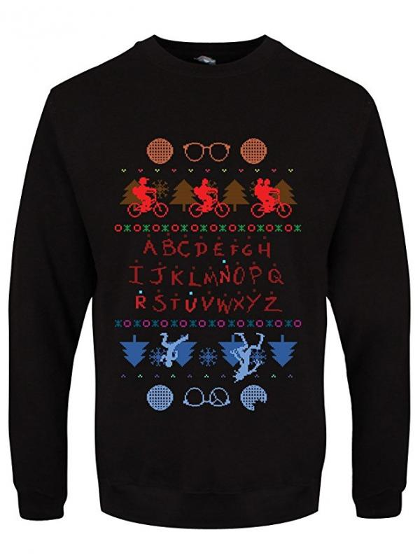 Stranger Things Bike Ride & Upside Down Ugly Christmas Sweater