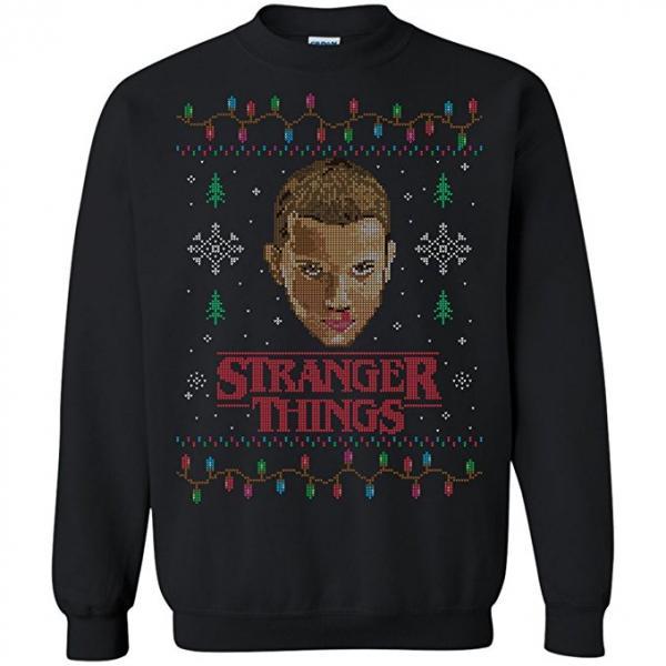 Stranger Things Bleeding Eleven Ugly Christmas Sweater