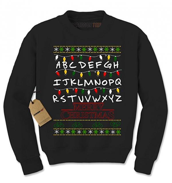 Stranger Things Christmas Lights Sweater