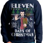 Stranger Things Eleven Days of Christmas Ugly Sweater