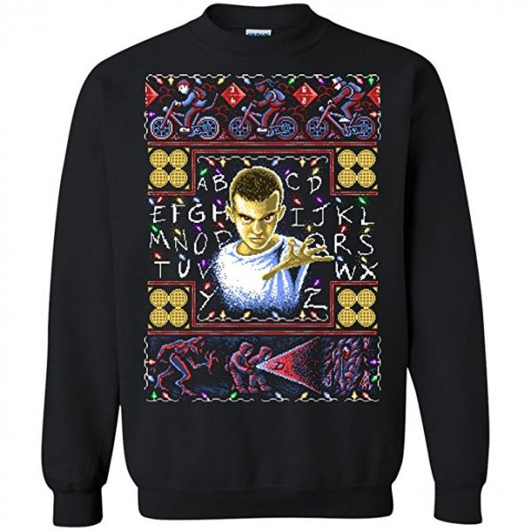 Stranger Things Eleven & the Guys Ugly Christmas Sweater