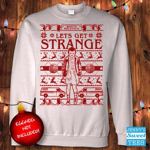 Stranger Things Let's Get Strange Ugly Christmas Sweater
