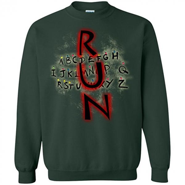 Stranger Things Run Christmas Sweater