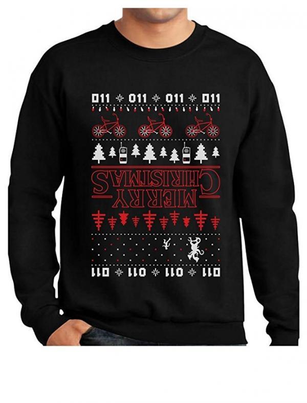 Stranger Things Upside Down Merry Christmas Sweater