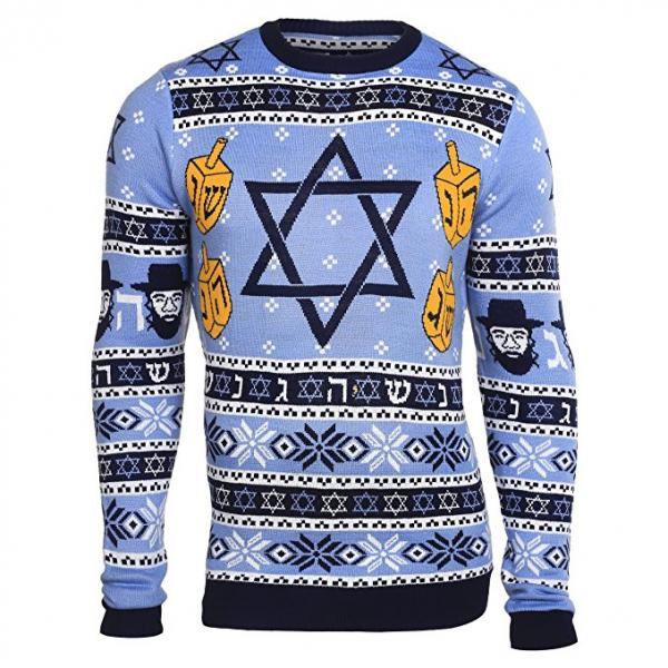 Stylish Hanukkah Ugly Christmas Sweater