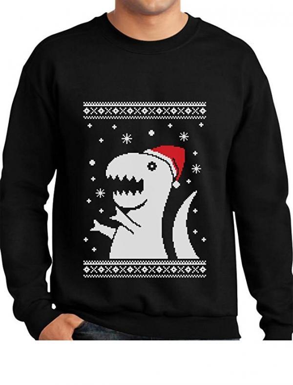 T-Rex Santa Ugly Christmas Sweater