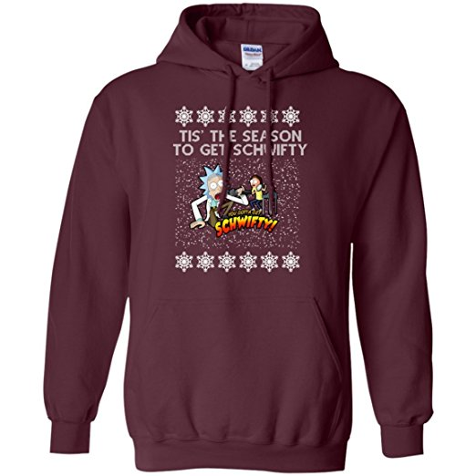tis-the-season-to-get-schwifty-men-pullover-hoodie