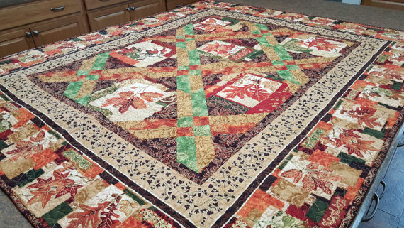 Thanksgiving Autumn Leaves Quilt