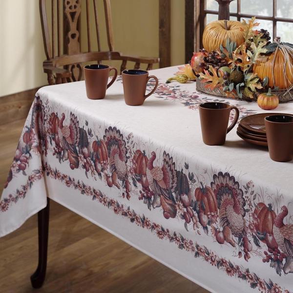 Thanksgiving Elegant Harvest Themes Tablecloth