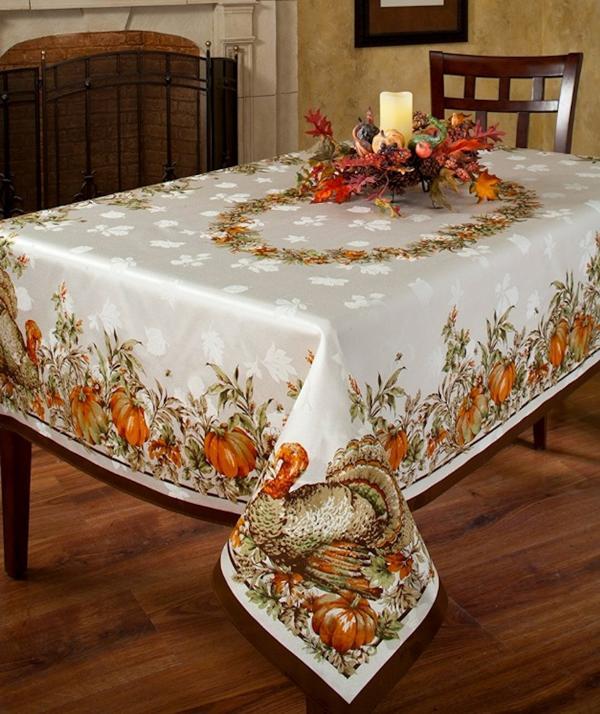Thanksgiving Festivities Border Tablecloth